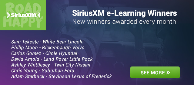 New SiriusXM e-Learning Winners awarded every month!