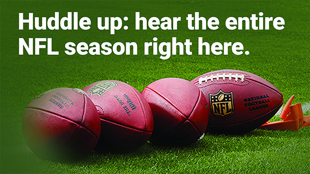Huddle up: hear the entire NFL season right here.