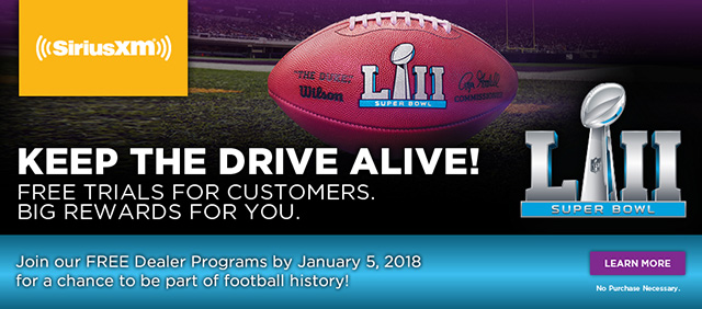 Join our FREE Dealer Programs by January 5, 2018 for a chance to be part of football history!